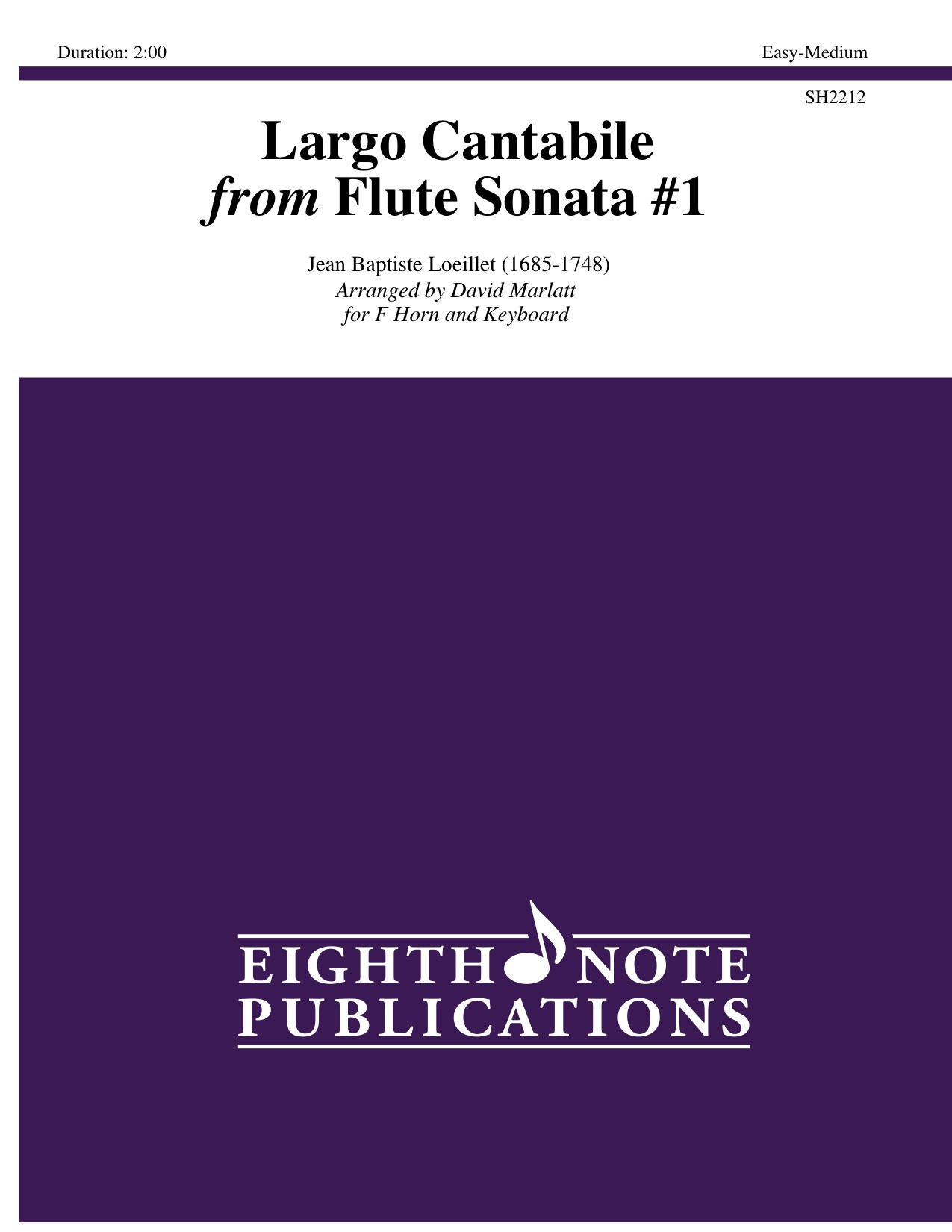 Largo Cantabile from Flute Sonata #1  - Jean Baptiste Loeillet
