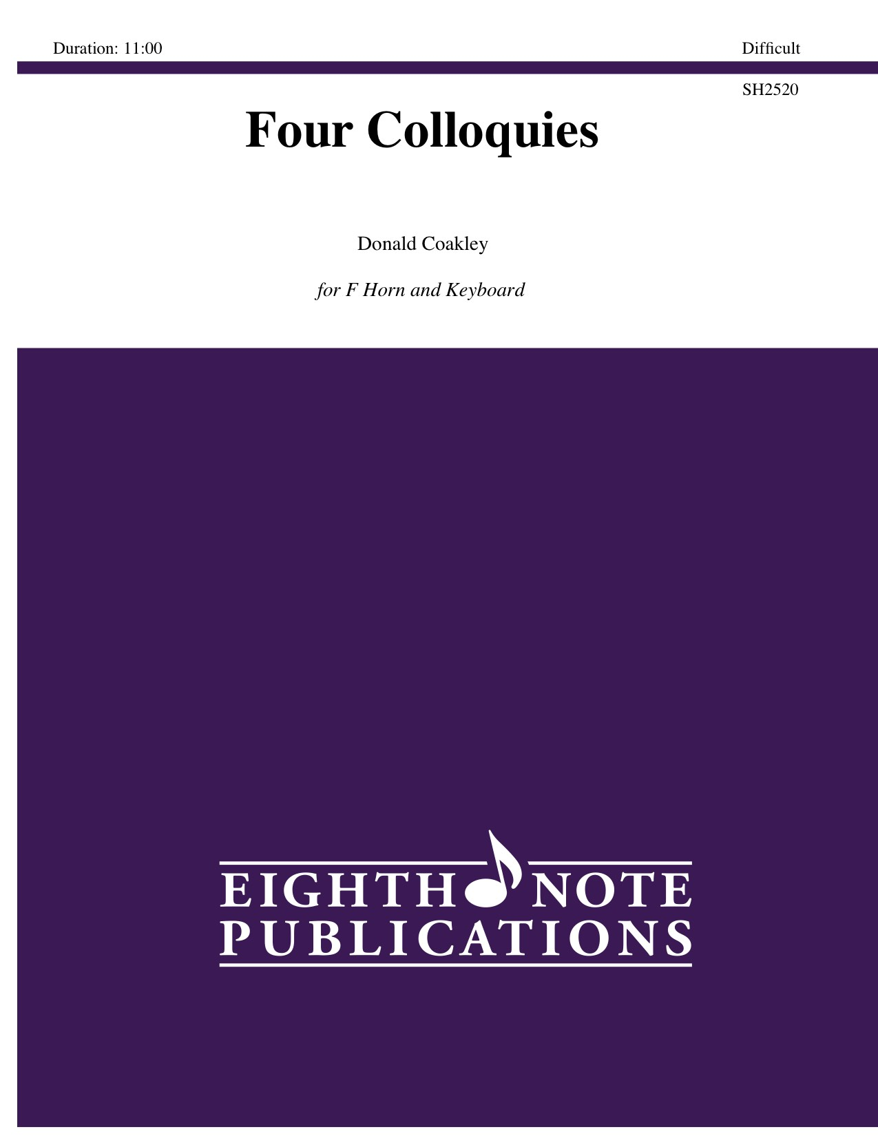 Four Colloquies  - Donald Coakley