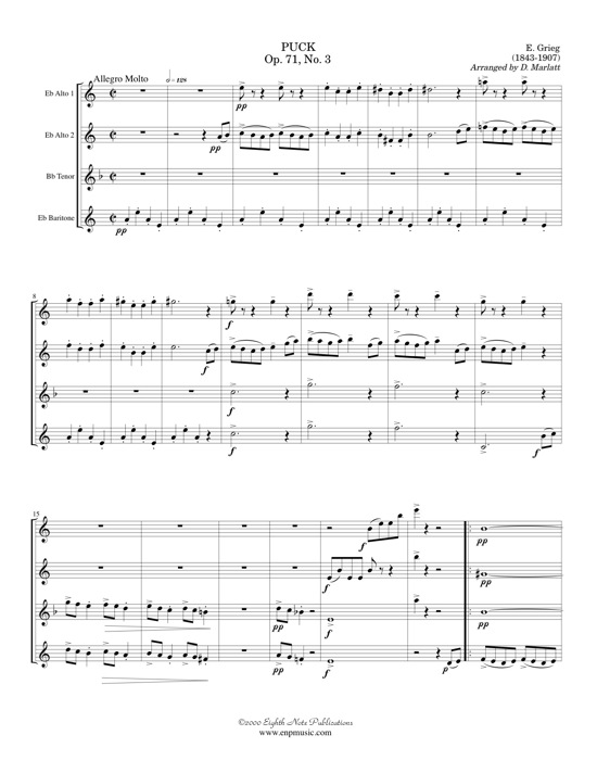Puck and Elfin Dance  - Edvard Grieg