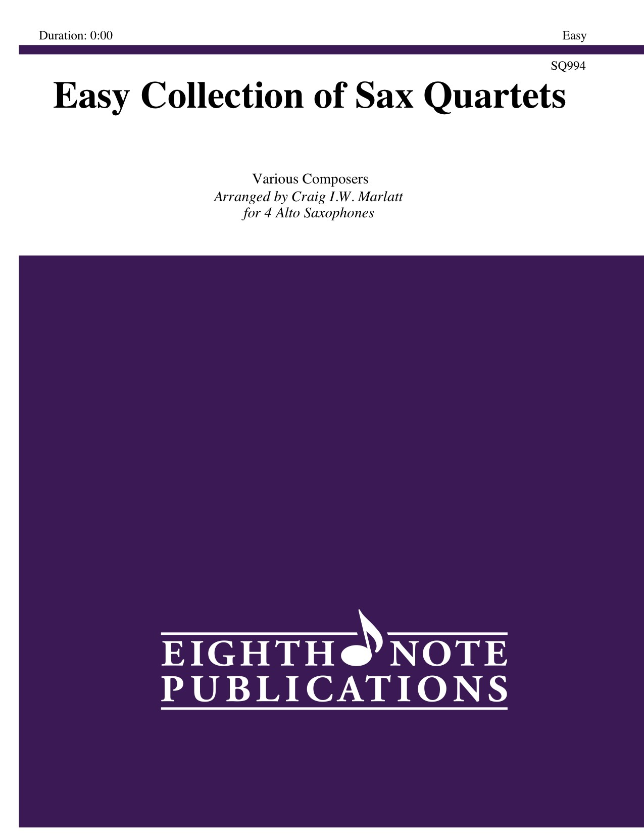 Easy Collection of Sax Quartets -  Various