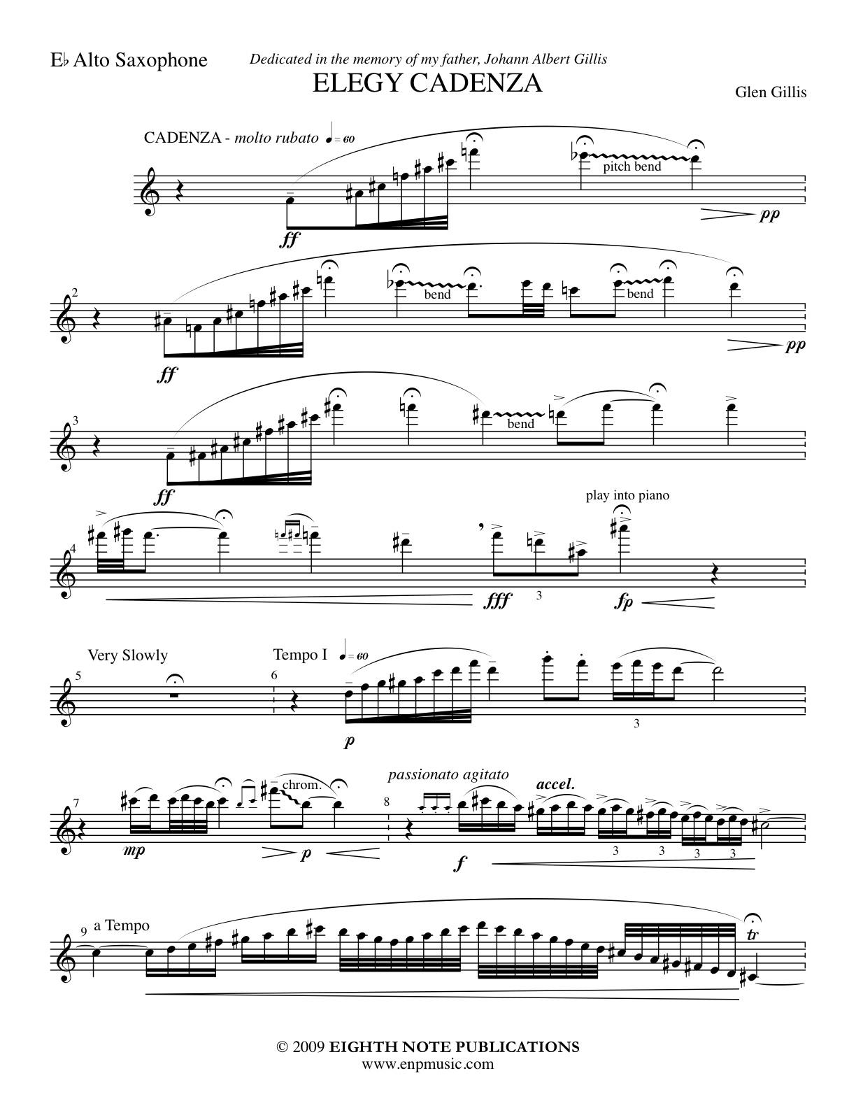 Elegy Cadenza - Glen Gillis