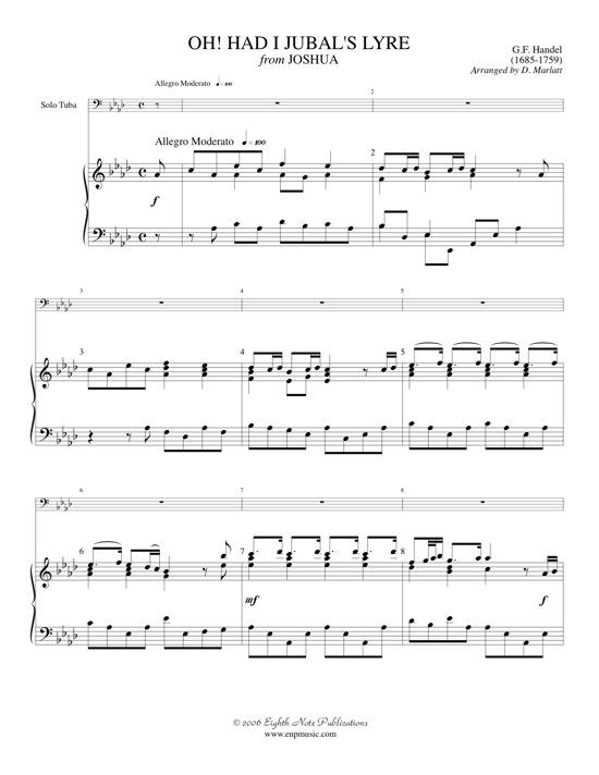 Oh! Had I Jubals Lyre  - George Frederic Handel