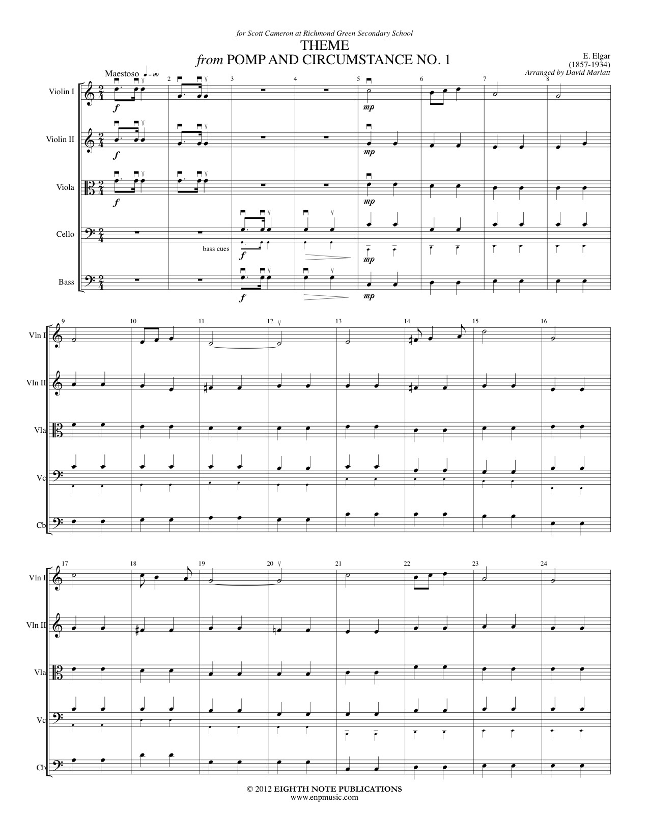 Pomp and Circumstance No. 1 - Theme - Edward Elgar