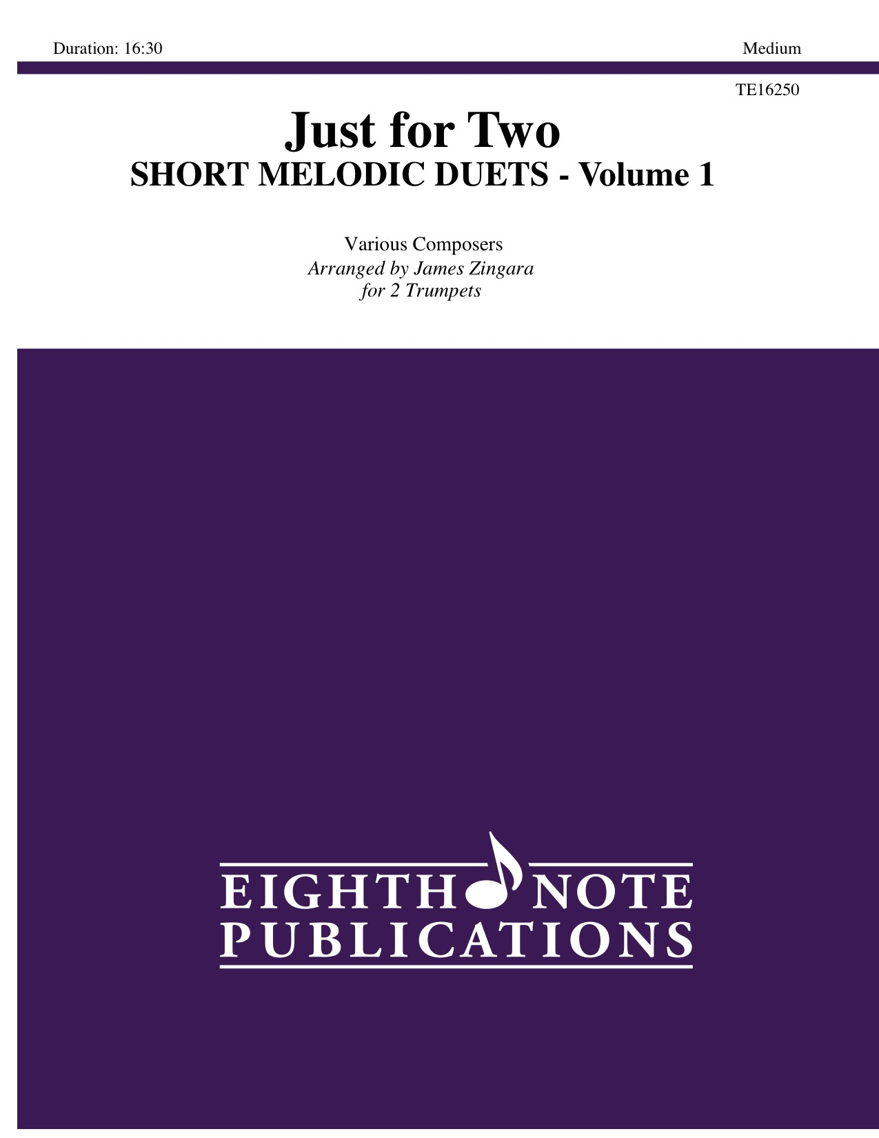 Just for 2 - Short Melodic Duets - Volume 1 - Various Composers