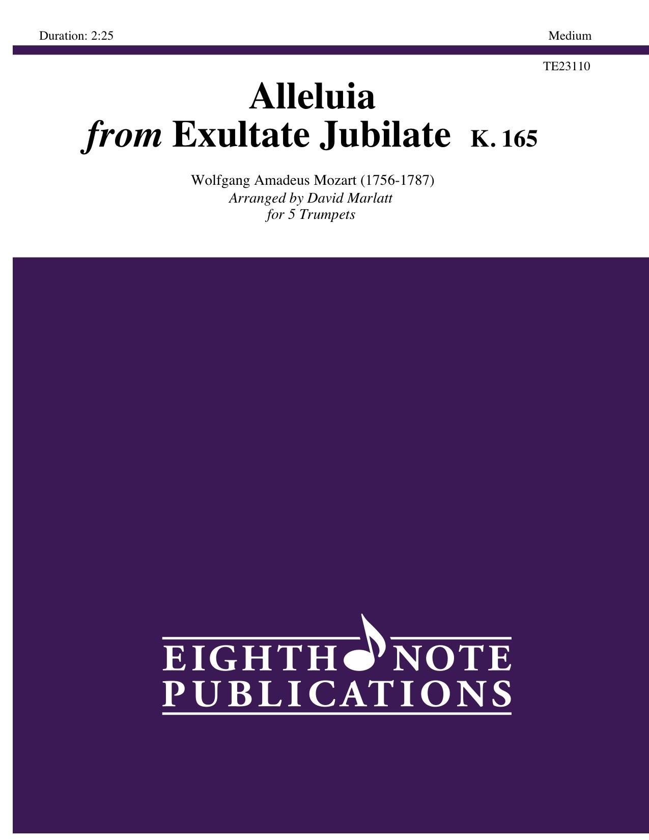 Alleluia from Exultate Jubilate K. 165  - Wolfgang Amadeus Mozart