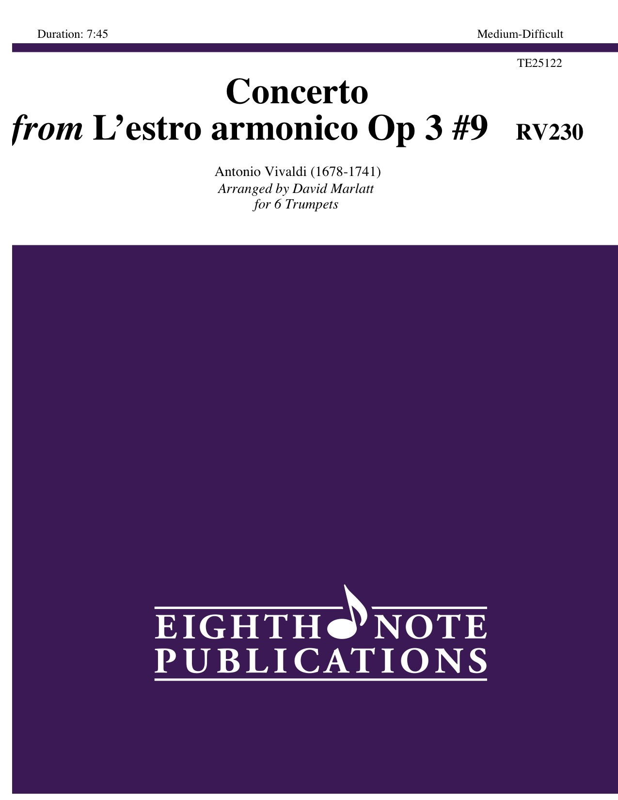 Concerto from Lestro armonico Op 3 #9  RV230  - Antonio Vivaldi