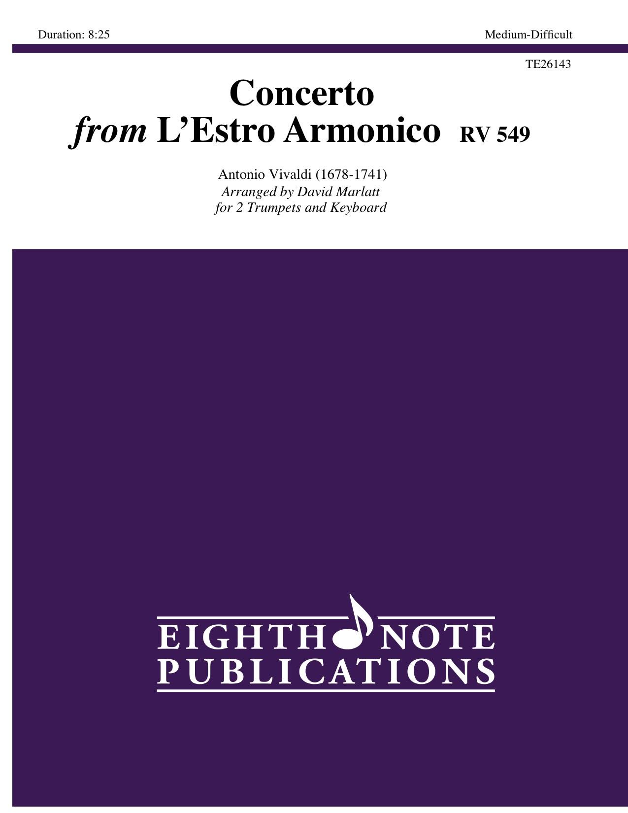 Concerto from LEstro Armonico  RV 549  - Antonio Vivaldi