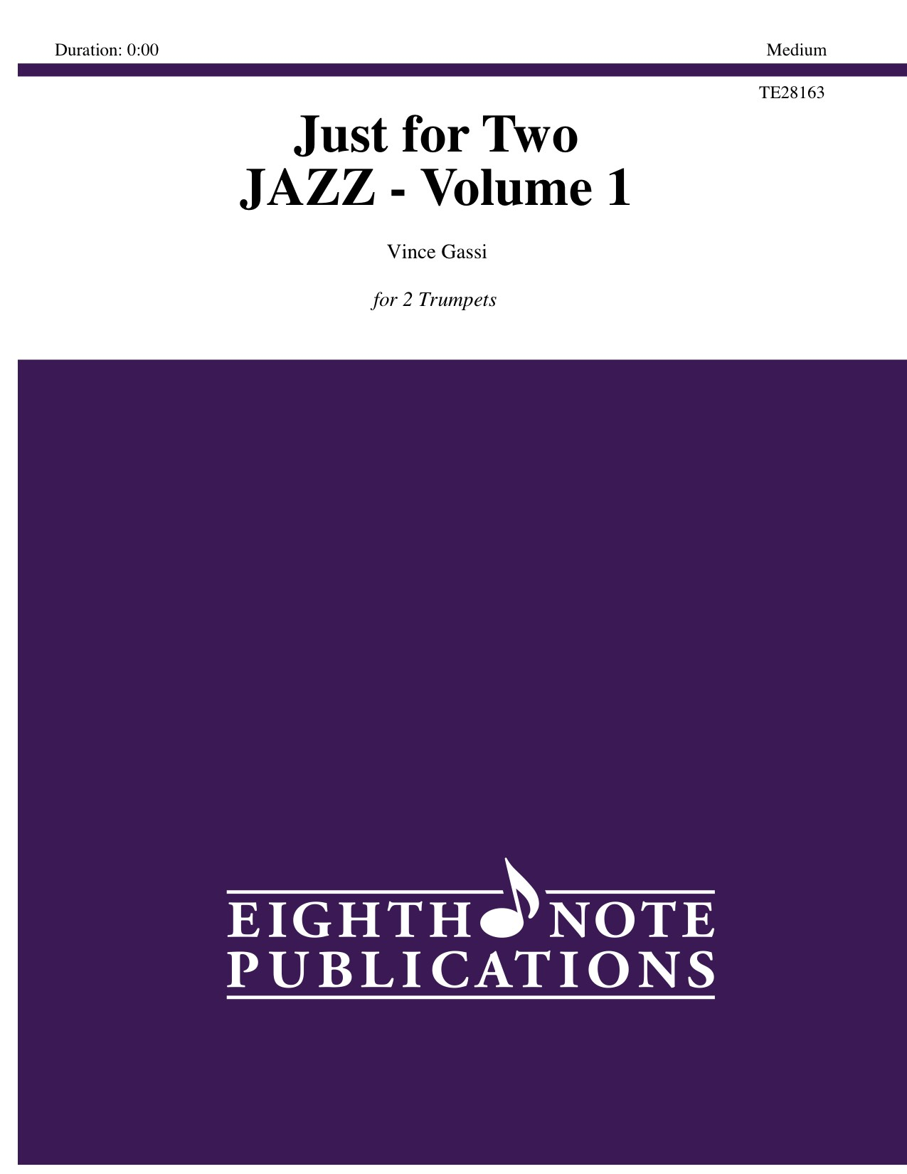 Just for 2 - Jazz - Volume 1 - Vince Gassi
