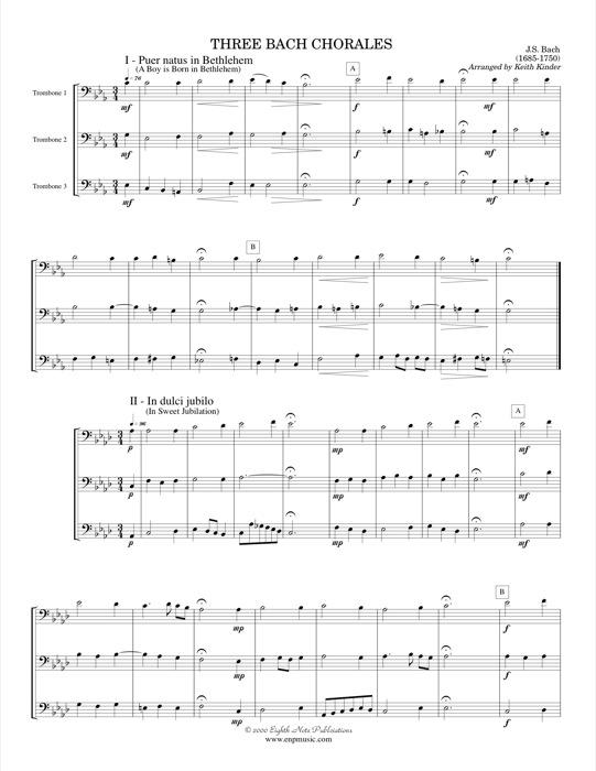 Three Bach Chorales - Johann Sebastian Bach
