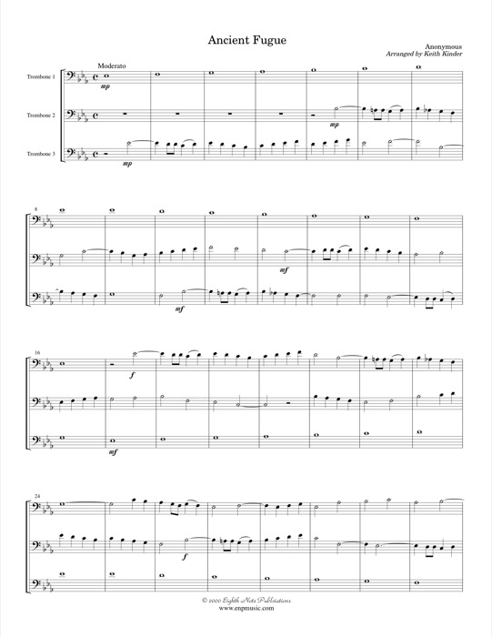 Ancient Fugue -  Anonymous