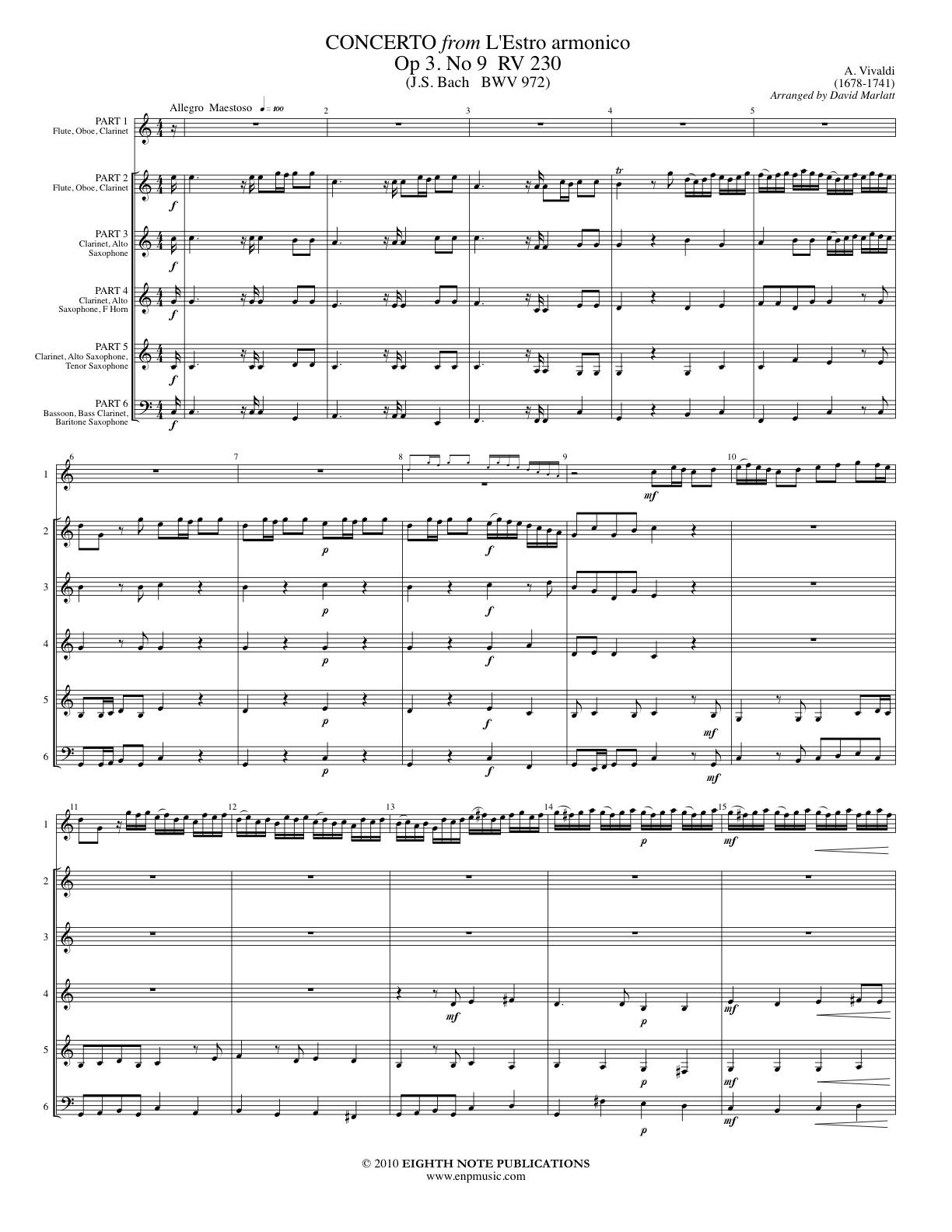 Concerto from L�estro armonico Op. 3 #9 - Antonio Vivaldi