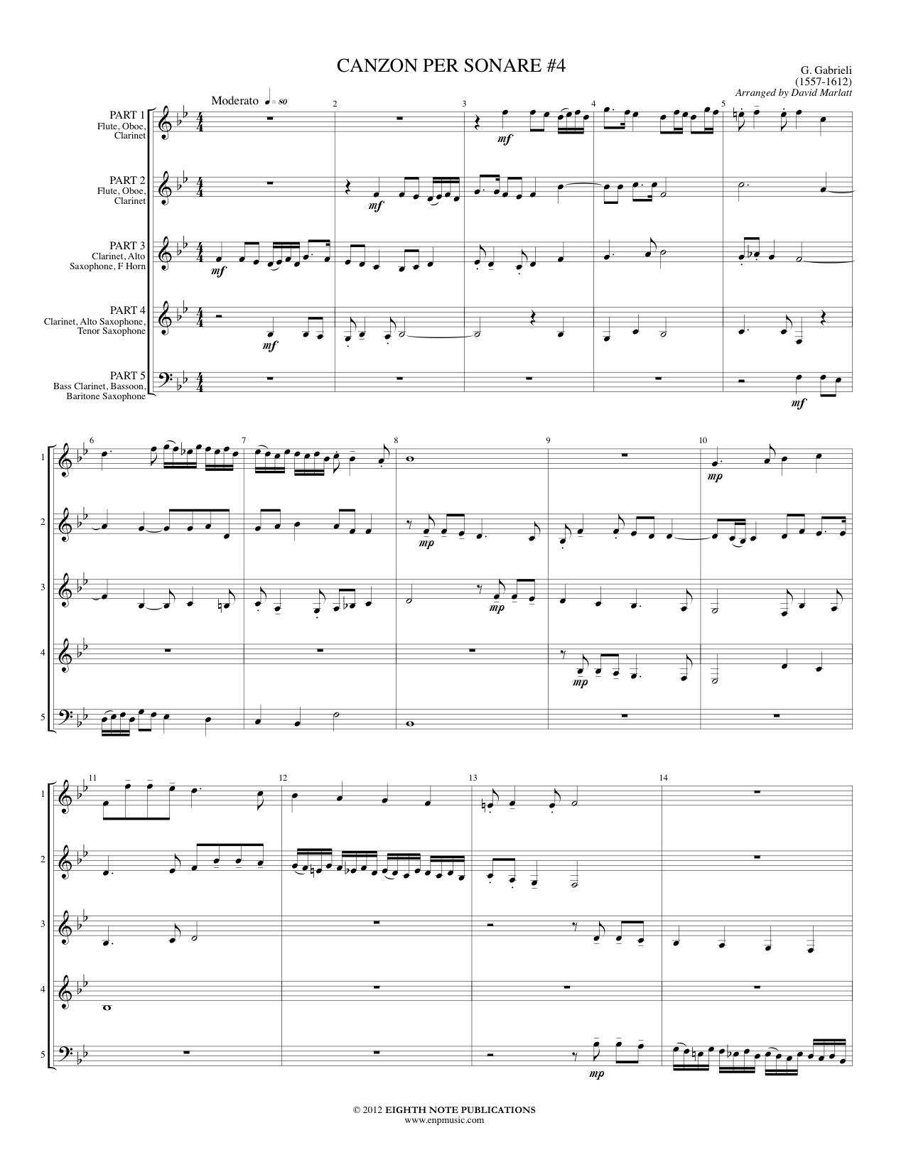Canzon per sonare #4 - Giovanni Gabrieli