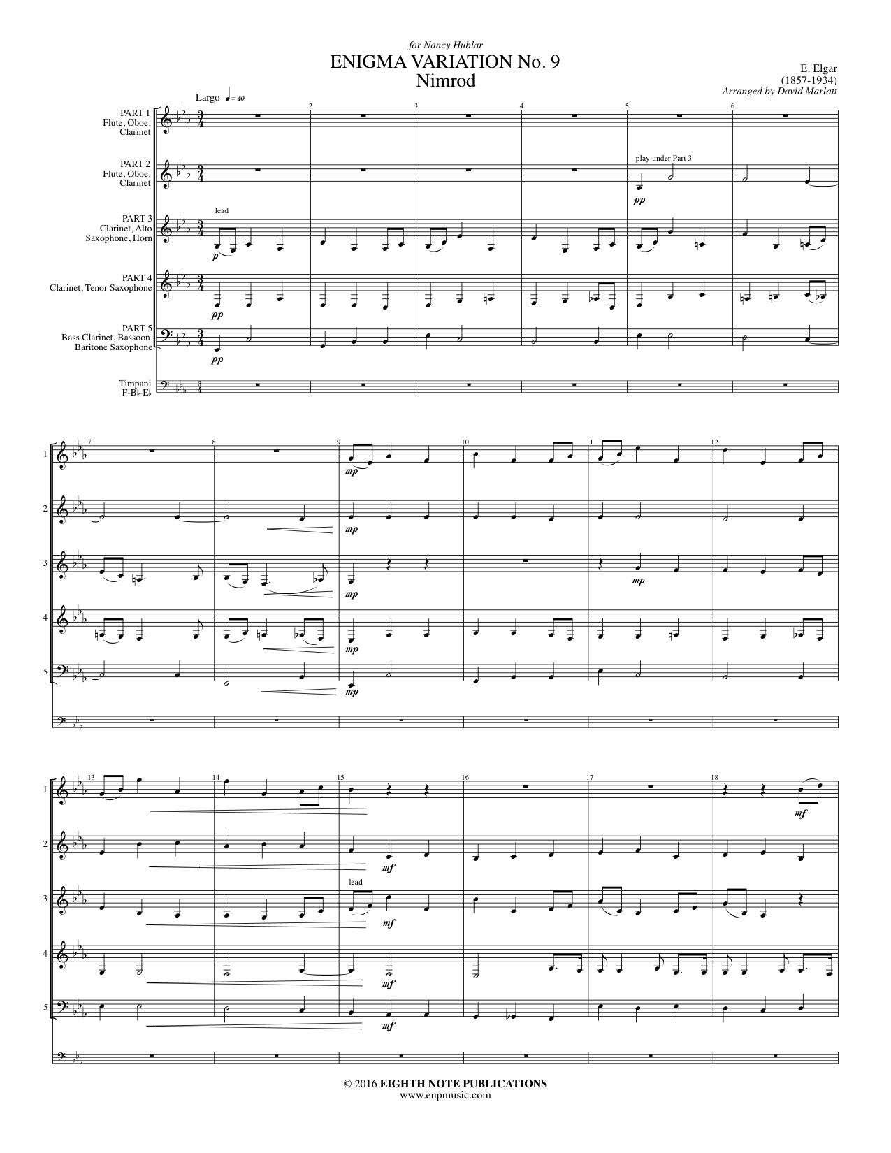 Enigma Variation No. 9 (Nimrod) - Edward Elgar