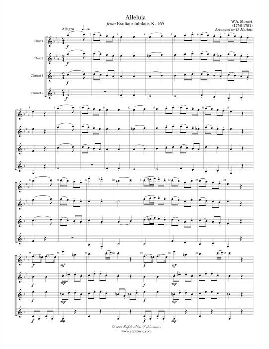 Alleluia from Exultate Jubilate  - Wolfgang Amadeus Mozart