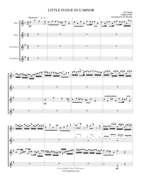 Little Fugue in G minor   - Johann Sebastian Bach