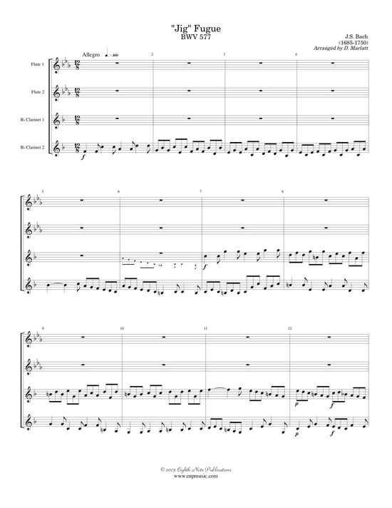 Jig Fugue   BWV 577   - Johann Sebastian Bach
