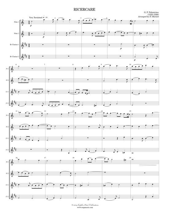 Ricercare  - Giovanni Palestrina