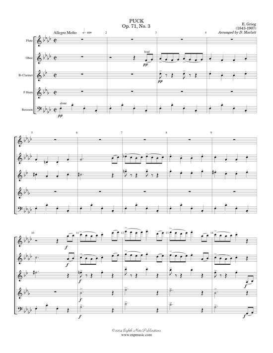 Puck Op. 71 #3 - Edvard Grieg