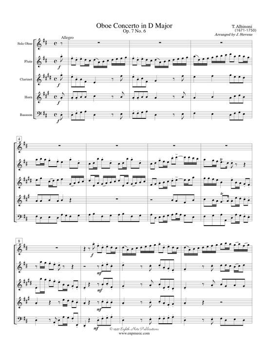 Oboe Concerto - Tomaso Albinoni