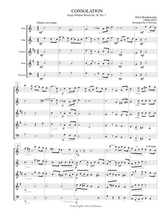 Consolation - Felix Mendelssohn